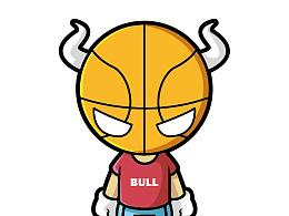 Ai矢量插画入门 临摹的篮球怪物