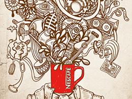 雀巢咖啡平面广告