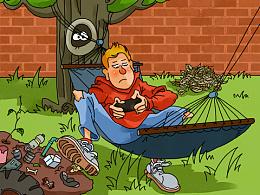 儿童插画-花园大赛
