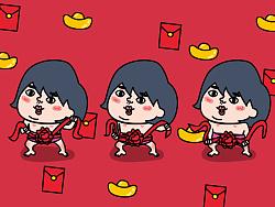 微信表情【酷妹汁春节红包篇】