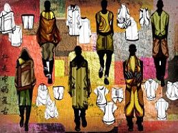 一组男装系列设计