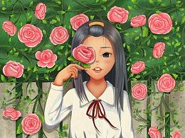 花儿与少女之蔷薇(内附简单过程)