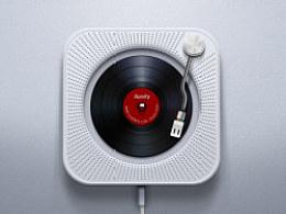 MUJI挂壁CD机+唱片机的结合·﹏·