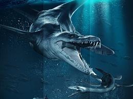 侏罗纪公园海报合成—向桌松老师致敬