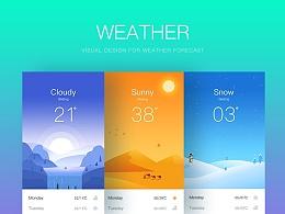 天气UI界面-天气插画