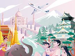 山东航空宣传海报