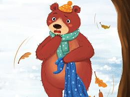 怕黑的伯纳熊