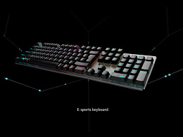 key shot. E-sports keyboard