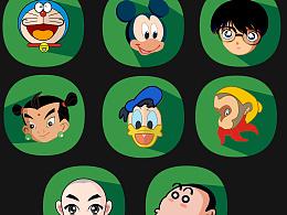 卡通人物扁平化图标