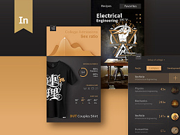 复古风格大学web&UI概念设计