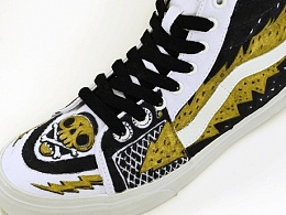 VANS SK8-HI shoe custom painted 2013