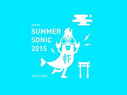 SUMMER SONIC 2015 音乐节活动视觉形象
