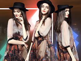 【商业项目】淘宝店欧美女装首页装修 针对消费人群25~35。