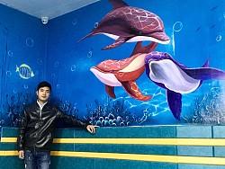 医院的海底世界(墙绘壁画) 新作品! by 壁尚灵点
