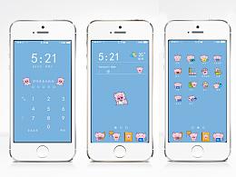 UI手机主题手绘