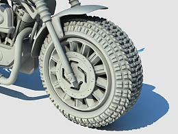 三维建模-哈雷摩托车