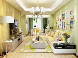 家具3D效果图-沙发、茶几、电视柜、餐桌椅、角几
