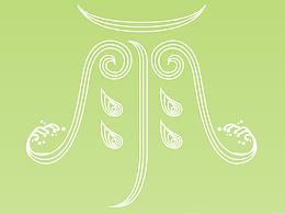 谷雨/二十四节气/字体设计