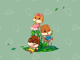 三只松鼠夏季主题壁纸专辑