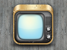UI写实图标:旧电视机