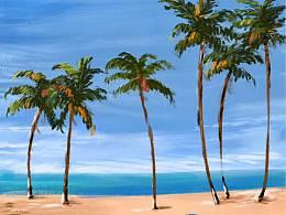 我想要和你去海边吹吹咸咸的风。