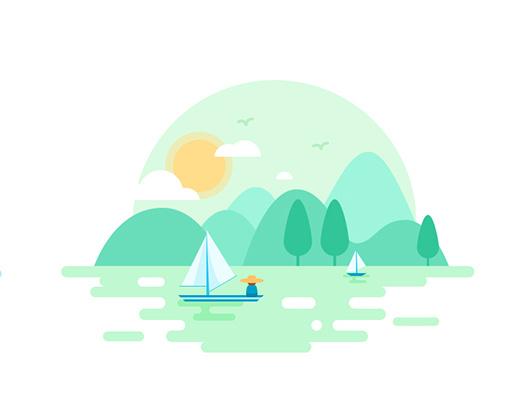 矢量 風景 圖標 插畫