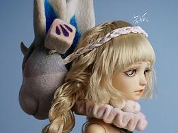 羊毛毡作品第三弹——兔姬