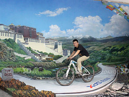 3D地画  深圳喜德盛博物馆3D立体画【拉萨之约】陈旭南3D画