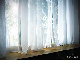 初冬午后阳光-窗帘