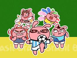 冷兔世界杯QQ表情