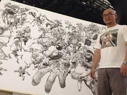 漫画大师金政基KimJungGi现场为《部落冲突Clash-of-Clans》创作