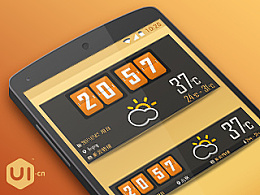 橙色年代 _ Weather Widget 3.0