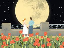 涂涂画画——月亮