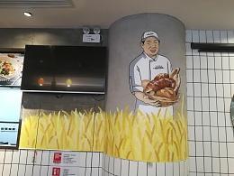 工匠面包壹方店墙绘