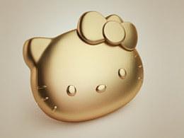 【icon临摹】土豪金kitty猫