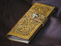 圣天使玫瑰 / 手工皮雕复古长夹