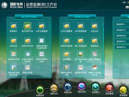 运营监测工作台导航页原创UI界面(FLEX开发)