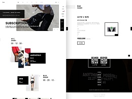 A.w国际服装电商平台首页Web/H5设计