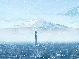 下雪的广州