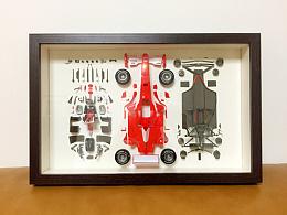 法拉利F2001跑车相框装裱