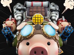 核玩coreplay 十二生肖坐骑系列 机动猪
