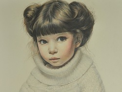 毛衣小女孩