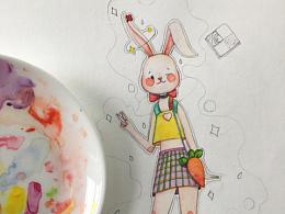 美丽的兔子小姐还有附赠的小草莓