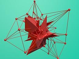 几何抽象体组合  c4d