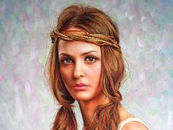 油画西洋少女Natasha