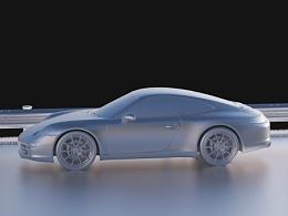 Porsche 911 rendering test