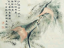 李旭东中国斗鱼国画系列之《潮汕沙漭》