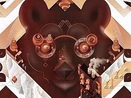 Ukulele bear 绘图思路、流程