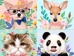 动物花园图案设计