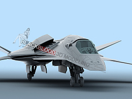 鹰爪战机,用于3D打印
